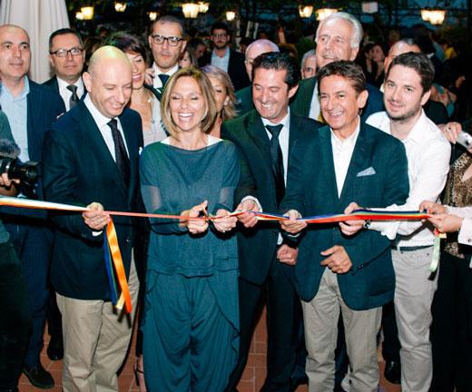 Jacopo D'Elia (presidente Confcommercio), Sara Nocentini (assessore regionale), Aldo Cursano (Fipe-Confcommercio e Fipe Toscana), Marcello Mancini (direttore La Nazione) e Andrea Lupini (direttore marketing Italia a Tavola)